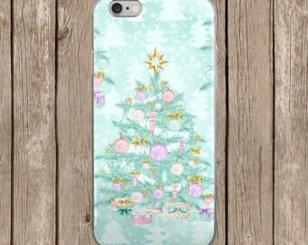 Pastel Christmas Tree iPhone Case | iPhone 5/5s/SE | iPhone 6/6s | iPhone 6 Plus/6s Plus | iPhone 7 | iPhone 7 Plus
