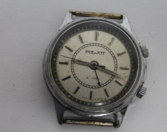 Vintage russian man watch POLJOT with ring, 17jewels