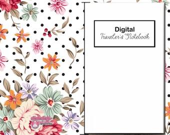 Digital, Paperless Travelers Notebook, Shabby Chic 4