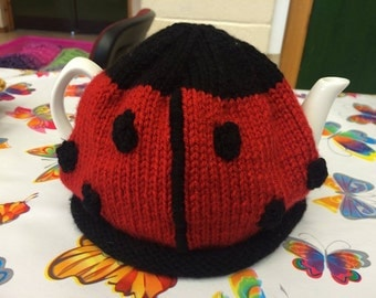 Hand Knitted Ladybird Tea Cosy