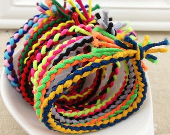 20pcs Elastic Rubber Hair Band Rope Ponytail Holder Hair accessories