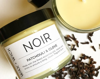 NOIR >> Patchouli & Clove >> Luxury essential oil candle 250ml