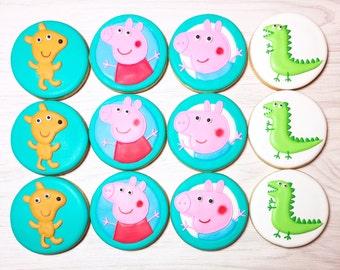 Peppa Pig Character Sugar Cookies (you choose)