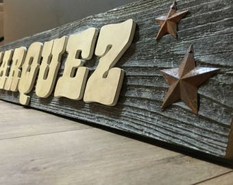 Western Reclaimed Wood Sign