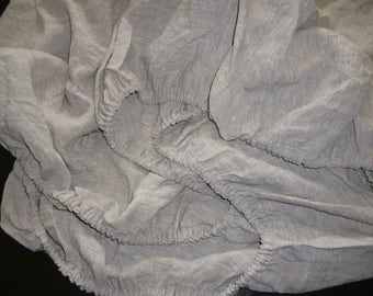 Natural linen Fitted sheet,Natural Flax linen fitted SHEET,Linen bed sheet,Gray linen bedding,white sheets,custom Queen,Linen Fitted Sheet