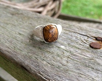 Peanut Jasper & Sterling Silver  Ring