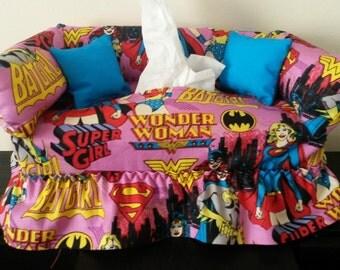Super Hero Girls Tissue Box Cover