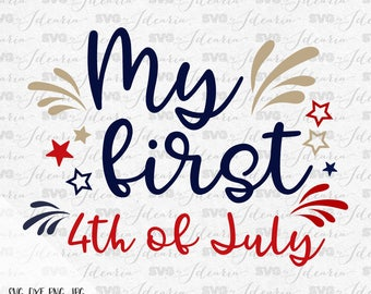 My first 4th of July, red white and cute, 4th of July Svg, Patriotic Svg, Summer Svg, Monogram Frames Svg, fourth of july svg, memorial day