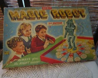 Merit The Amazing Magic Robot Vintage Board Game 3rd Edition (1953)