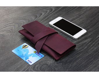 Leather phone case - customizable to every phone model! Sleeve | Cover | Smartphone | Mobile | Handmade | Unique |Grapes.