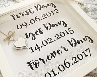 Unique wedding frame - anniversary frame - wedding frame - wedding gift - Valentine's frame - gift for her