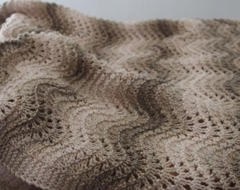 M.Y. Knit Baby Blanket - hand knit, great baby gift