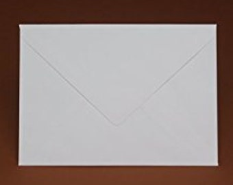 100 Premium White Envelopes by Mad as a Crafter (Various sizes)
