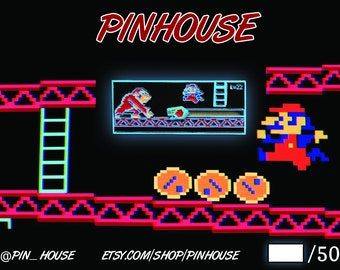 Limited Edition Donkey Kong inspired 8 Bit Classic Sliding Pin