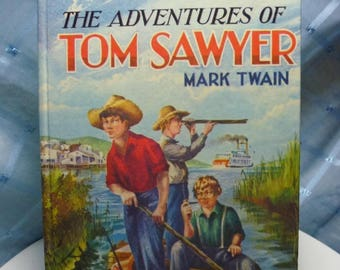 """Vintage """"The Adventures of Tom Sawyer"""" Book by Mark Twain"""