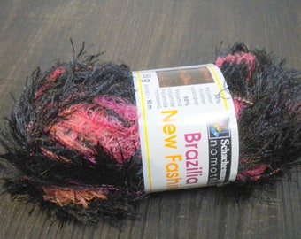 Fringe yarn effect yarn Brazilia new fashion Black-Red-Raspberry and more spring/summer