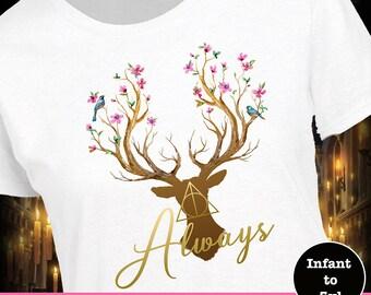 Girl Harry Potter Shirt, Deathly Hallows Shirt, Deathly Hallows Tank, Girl Wizard Shirt, Girl Potter Shirt, Always Shirt, Snape Shirt