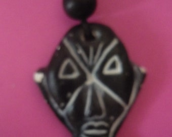 Necklace with black head