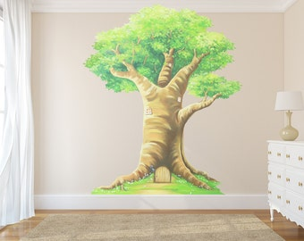 Fairy Tree Decal, Tree decals, tree wall sticker, tree decal, woodland tree decal, woodland decals, woodland wall decal, tree wall decal
