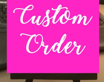 Custom Order Paintings - Small Art Painting with Desktop Easel, 4 x 4 inch