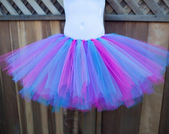 Dark Pink, Purple and Turquoise Tutu/Trolls Tutu - Other Colors Available
