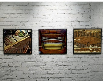 Western Photography Print Set Old West Art Modern Rustic Western Decor Rustic