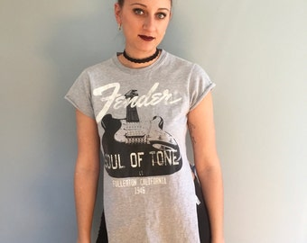 Upcycled Fender T-Shirt