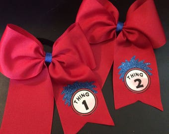 Dr. Seuss inspired Hairbow-Thing 1