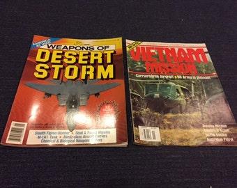 Vintage Desert Storm and Vietnam Mission Magazines