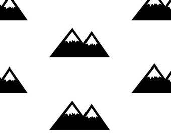 Mountain Decals ~ Mountain Wall Stickers ~Mountains ~ Nursery Wall Stickers ~ Adventurer Decor ~ Wall Stickers~ Nursery Decor~