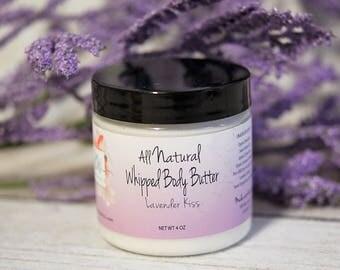 Whipped Body Butter (Lavender Kiss) - Body Butter - Whipped Shea Butter - Body Butter Organic - Shea Butter - Shea Body Butter -