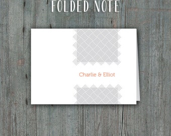 Printable Thank You Cards or Folded Notes • Contemporary Design