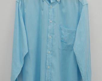 TRUSSARDI Shirt Vintage Trussardi Made In Italy Button Down Shirt Size L