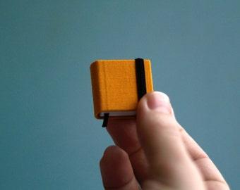 Hand-bound miniature sketchbook bright-yellow