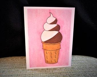 Ice Cream Swirl Card