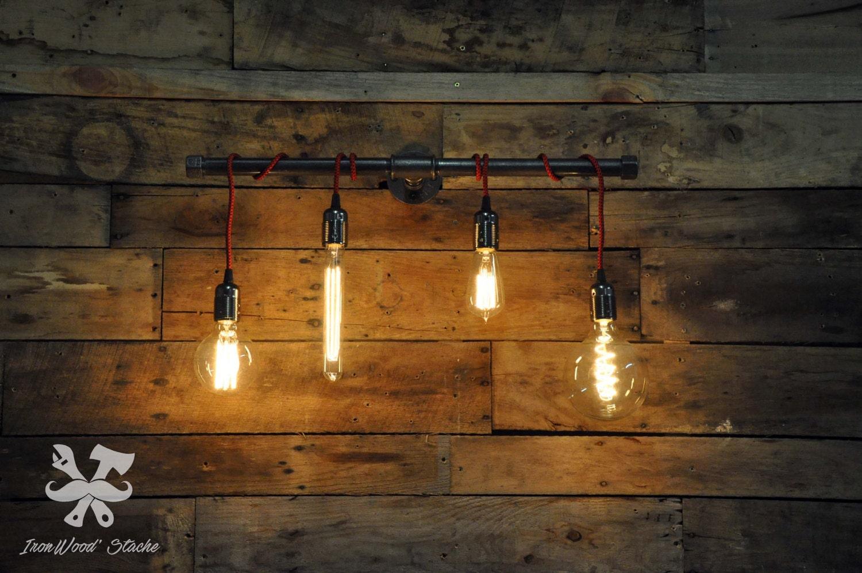 lampe murale quadruple vintage applique murale industriel. Black Bedroom Furniture Sets. Home Design Ideas