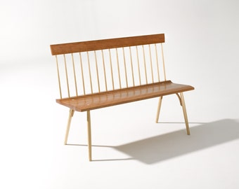 Spindle Back Bench in Cherry