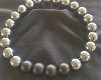 Matte Onyx & Hematite Healing Bracelet