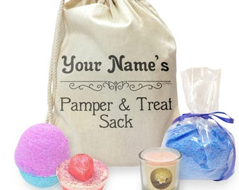 Personalised Pamper And Treat Sack Mini Spa In A Bag Collection 3