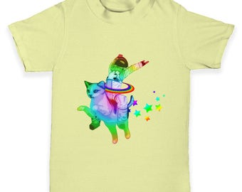 Space Cat Ride Baby Toddler T-Shirt