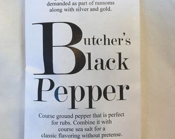 Butcher's Black Pepper