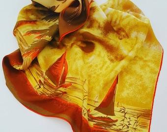 Pure silk scarf vintage
