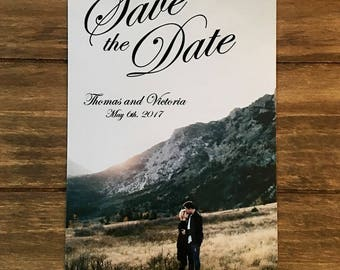 Photo Save the Date // Simple Save the Date // Custom Save the Date