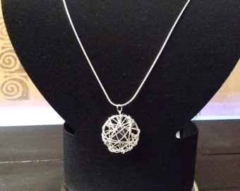 Basket pendant necklace