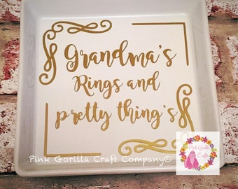 Personalised ring dish for him or her