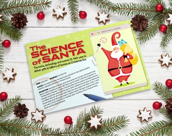 Science of Santa Infographic Christmas Card (10-pack)