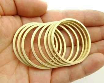 Custom Size & Limited Stock* 10pcs Large Eco-friendly Brass Round Circle Links Connectors Hoop Geometry Lead Nickel Chromium Free 0103-0124