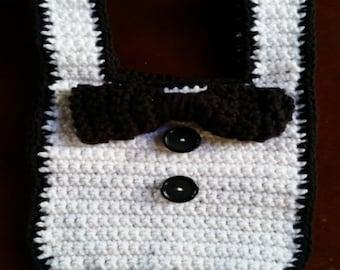 Black Tie Baby Bib