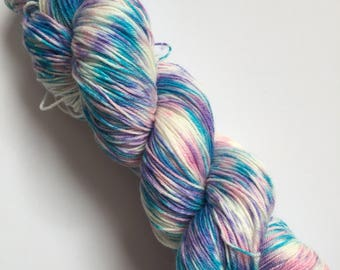 Hawaiian Breeze Speck-Al Hand Dyed Sock Yarn 100g DYED TO ORDER
