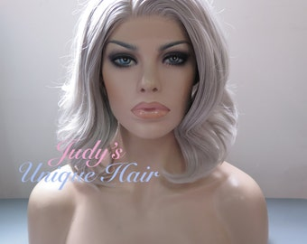 Long Curly Light Ash Blonde Lace Front Synthetic Hair Wig
